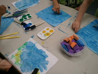 Eric Carle inspired- art projects related to childrens literature- elementary students read childrens books, then create crafts based off of these books