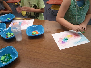 Making art in the elementary classroom with sponges