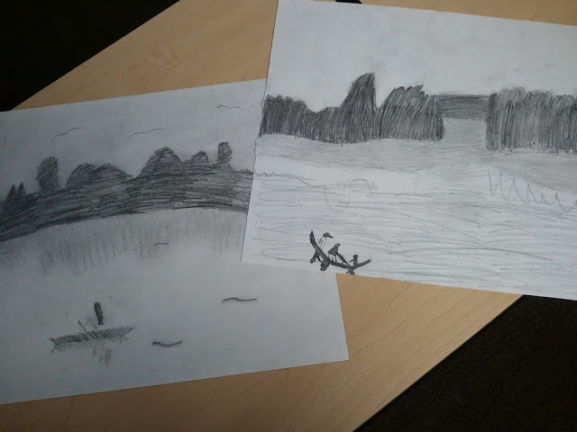 Charcoal drawing idea for children