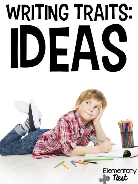 Diving into the Writing Traits: thinking of ideas- activities to help students get ideas in writing