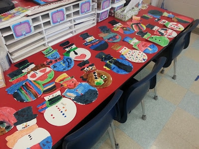 Snowman activity for elementary students