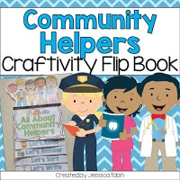 Community Helpers craftivity flip book