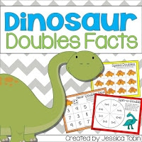 Dinosaur doubles facts learning activity for the primary classroom