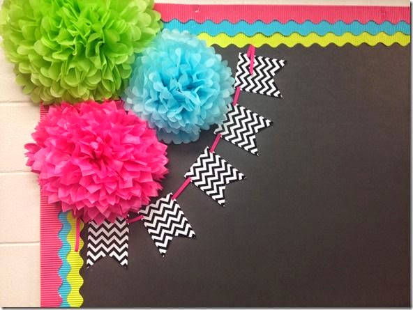 Puffs and bunting idea for primary school teachers