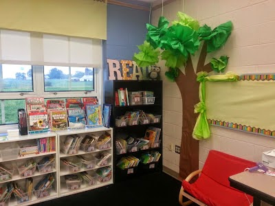 Decorative tree for reading nook