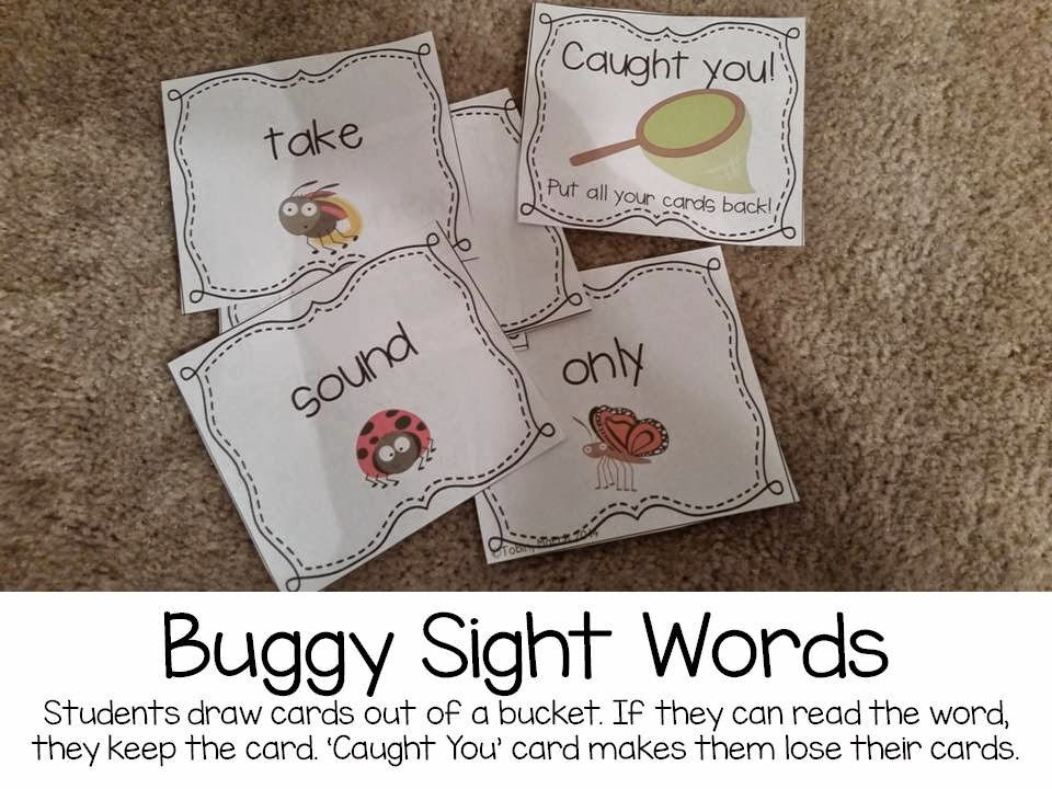 Buggy sight words