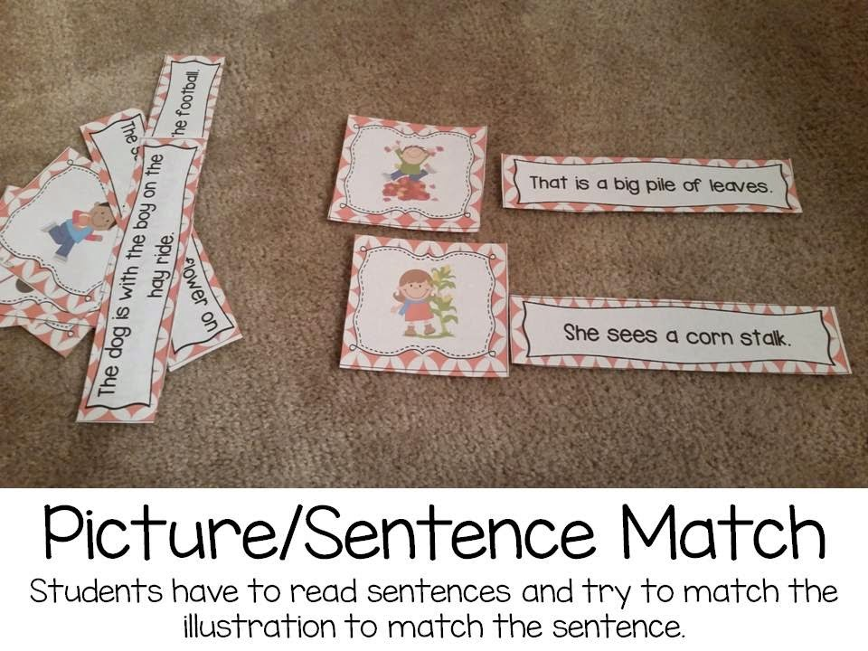 Picture/sentence match