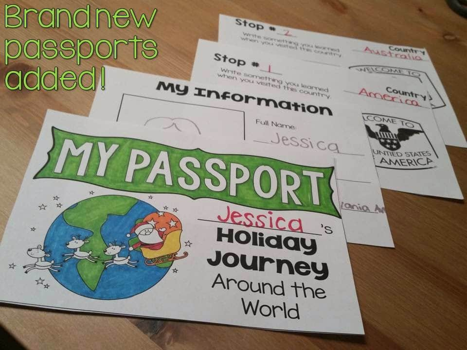 Passports for holiday journey around the world for teaching students.