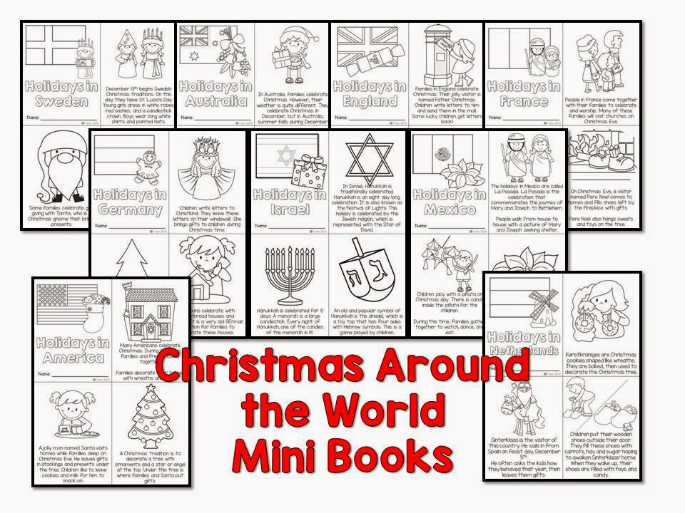 Christmas Around the World mini books