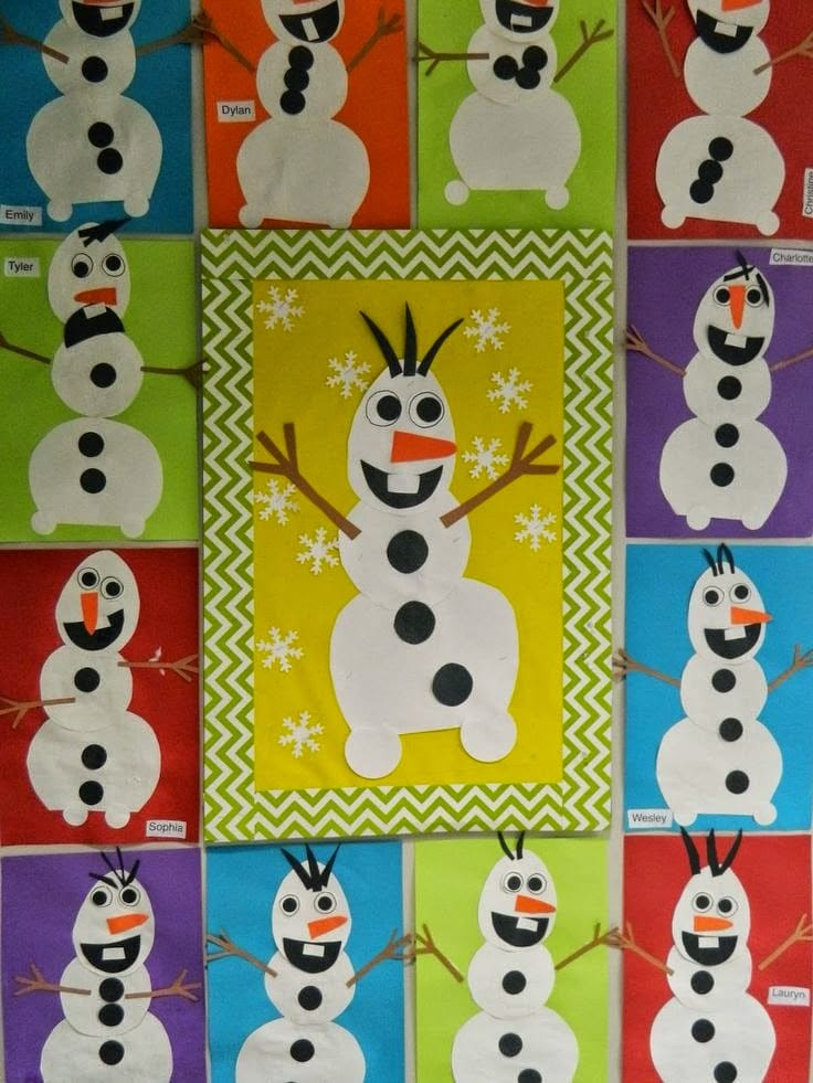 Olaf craft activity for the primary classroom