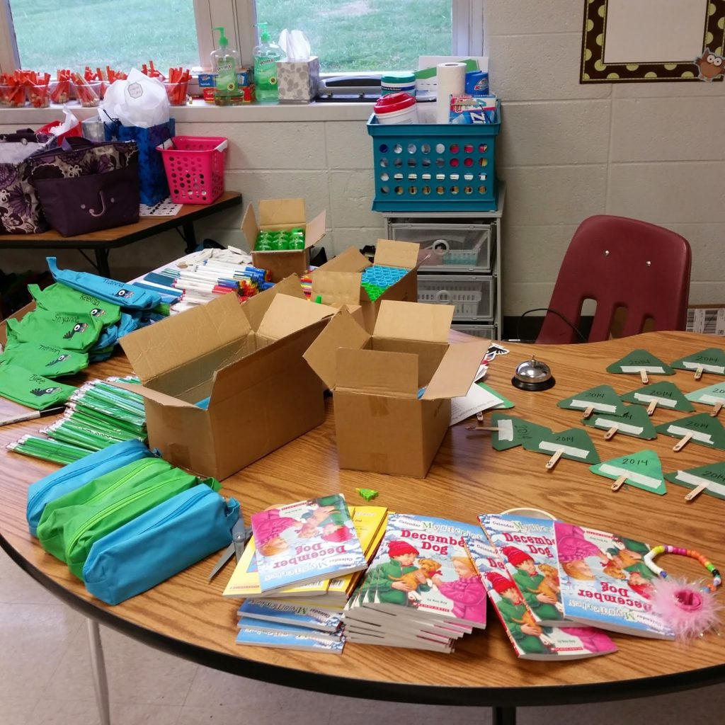 Setting up student gifts for holidays