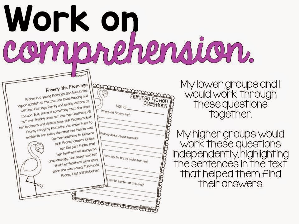 Working on comprehension in the classroom