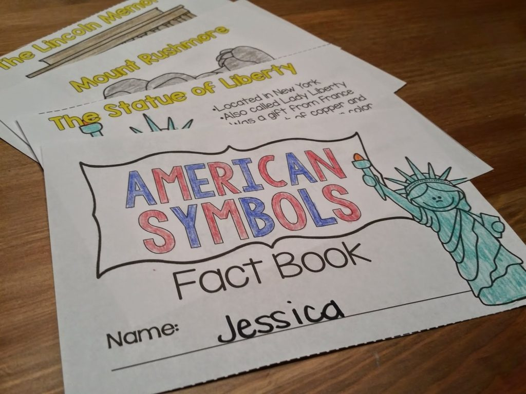 Mini book with facts for student learning