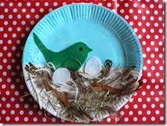 Birds nest craft idea for students.