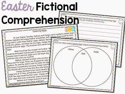 Easter fictional comprehension activity.
