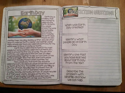 Earth day nonfiction learning.