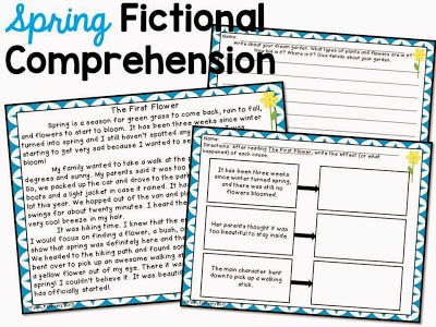 Fictional comprehension lesson.