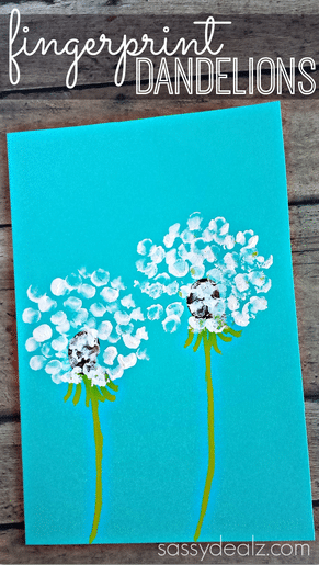 Fingerprint dandelions idea for students.