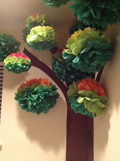 Puffball idea for making a tree.