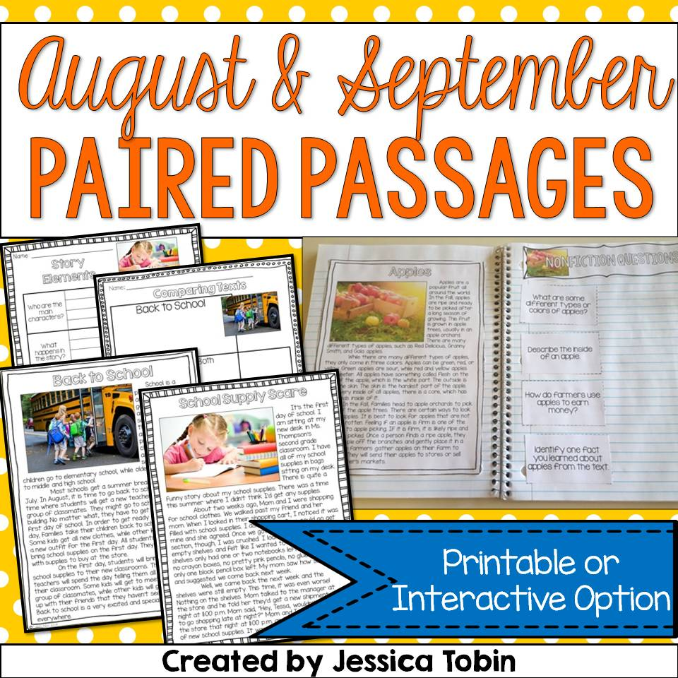 August and September Paired Passages