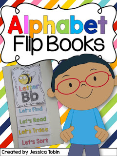 Alphabet flip books.
