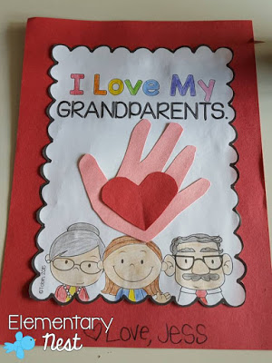 Free Grandparents Day craft idea for teachers.