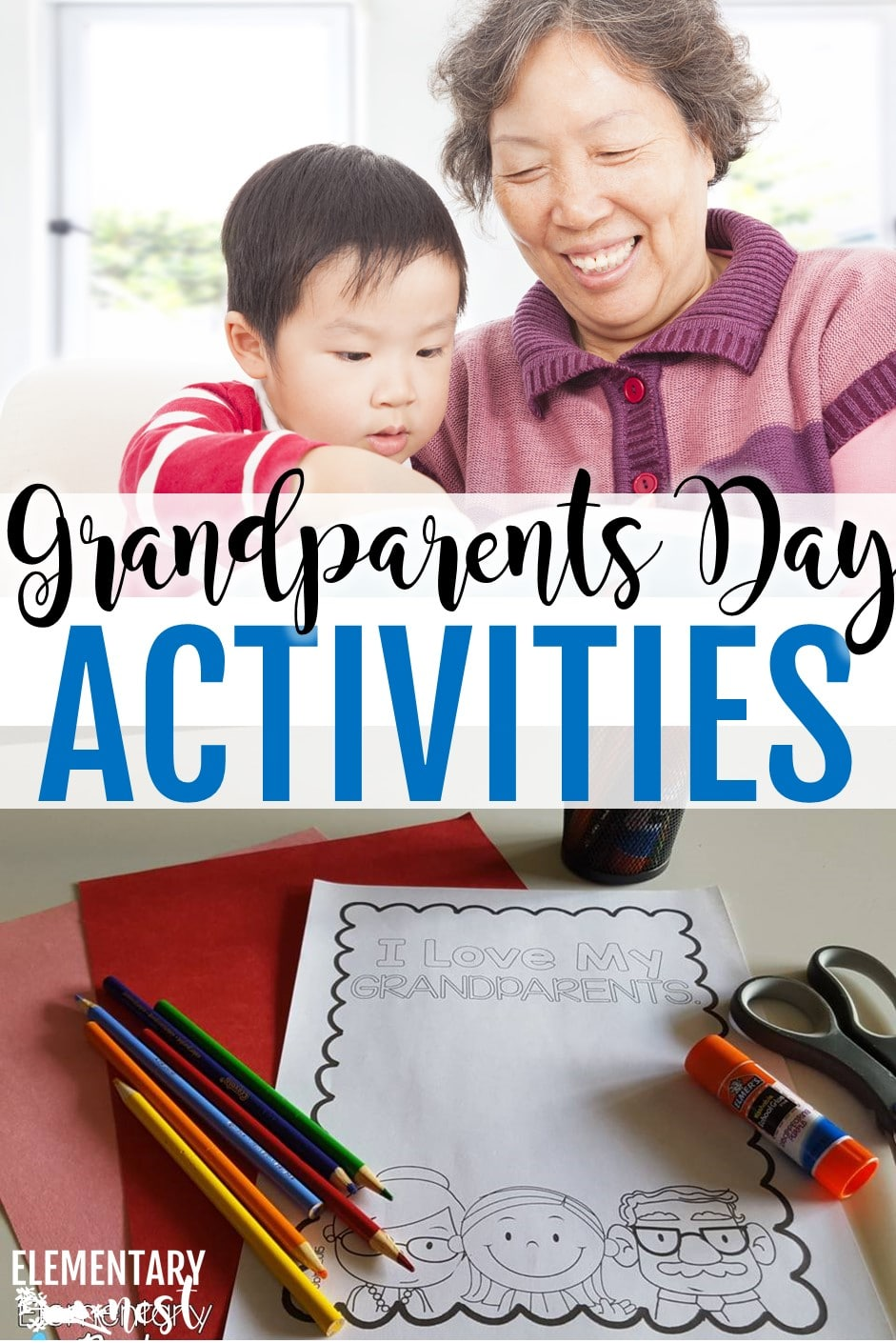 Grandparents' Day activities- reading and writing activities for the primary classroom to celebrate Grandparents Day