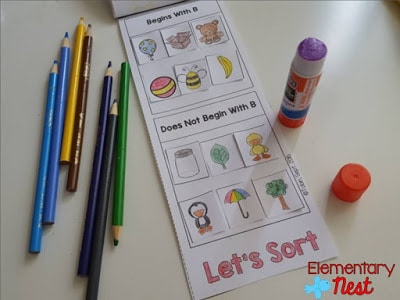 Cut and glue activity for children.