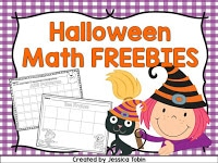 Halloween math freebie for primary students.