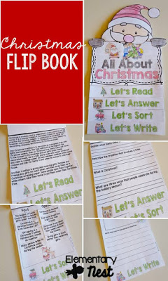 All about Christmas flip book.