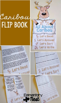Caribou Reading Activities- 5 December themed flip books and other December themed learning topics.