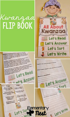 Kwanzaa Reading Activities- 5 December themed flip books and other December themed learning topics.