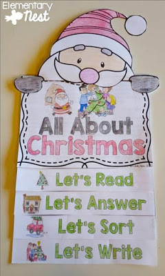 All about Christmas flip book