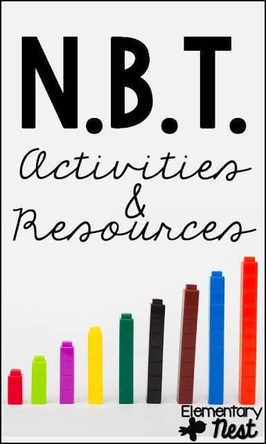 NBT- Place Value- Numbers and Operations in Base Ten Activities and Resources- Math Place Value activities.