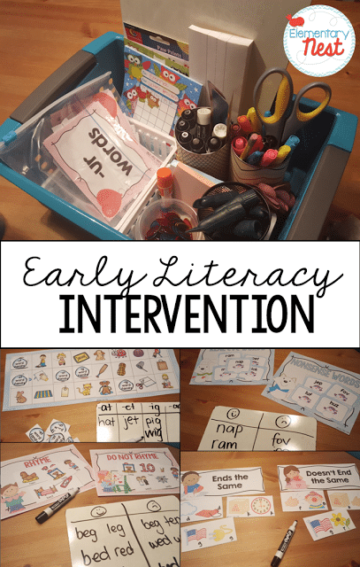 Early Literacy Intervention ideas and activities.