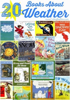 Weather Reading Books. Science and reading hands-on activities for students to learn about the different weather patterns.