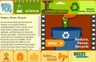 Earth Day Educational Activities for the primary classroom: BrainPop Jr. video.