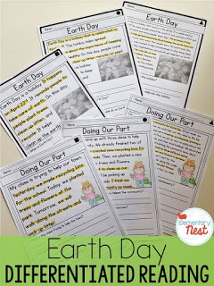 Earth Day differentiated reading activity.