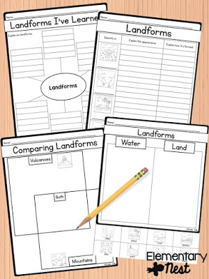 Teaching Landforms: Hands-on activity ideas for kids, no-prep engaging landform resources.