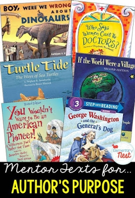 How to teach author's purpose in second grade, author's purpose teaching ideas for nonfiction texts #authorspurposeactivities #authorspurposeanchorcharts
