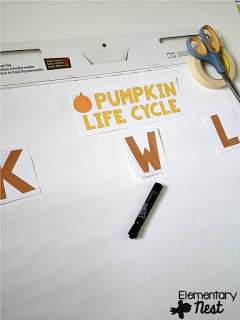 FREE KWL chart for pumpkin life cycle- Fall Science- activities to help integrate science into your fall teaching.