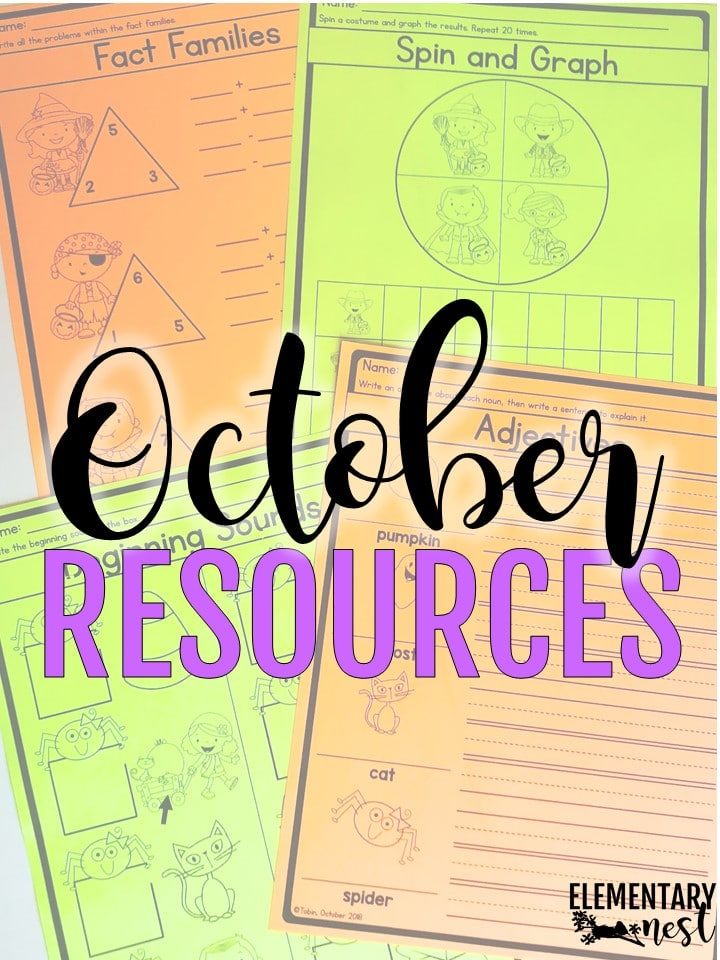October lesson plans and October activities for primary teachers.