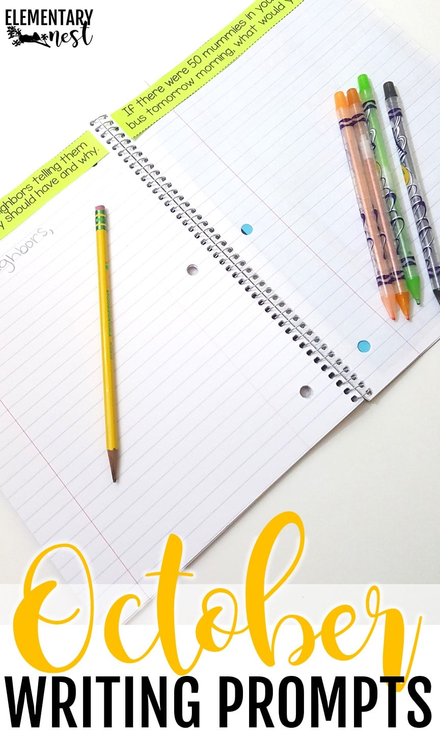 October writing prompts for student inspiration.