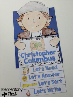 Christopher Columbus activity - October primary resources.