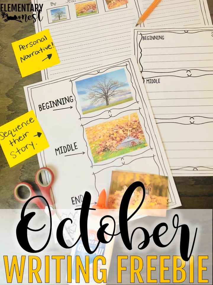 A FREE interactive writing activity - October primary resources.