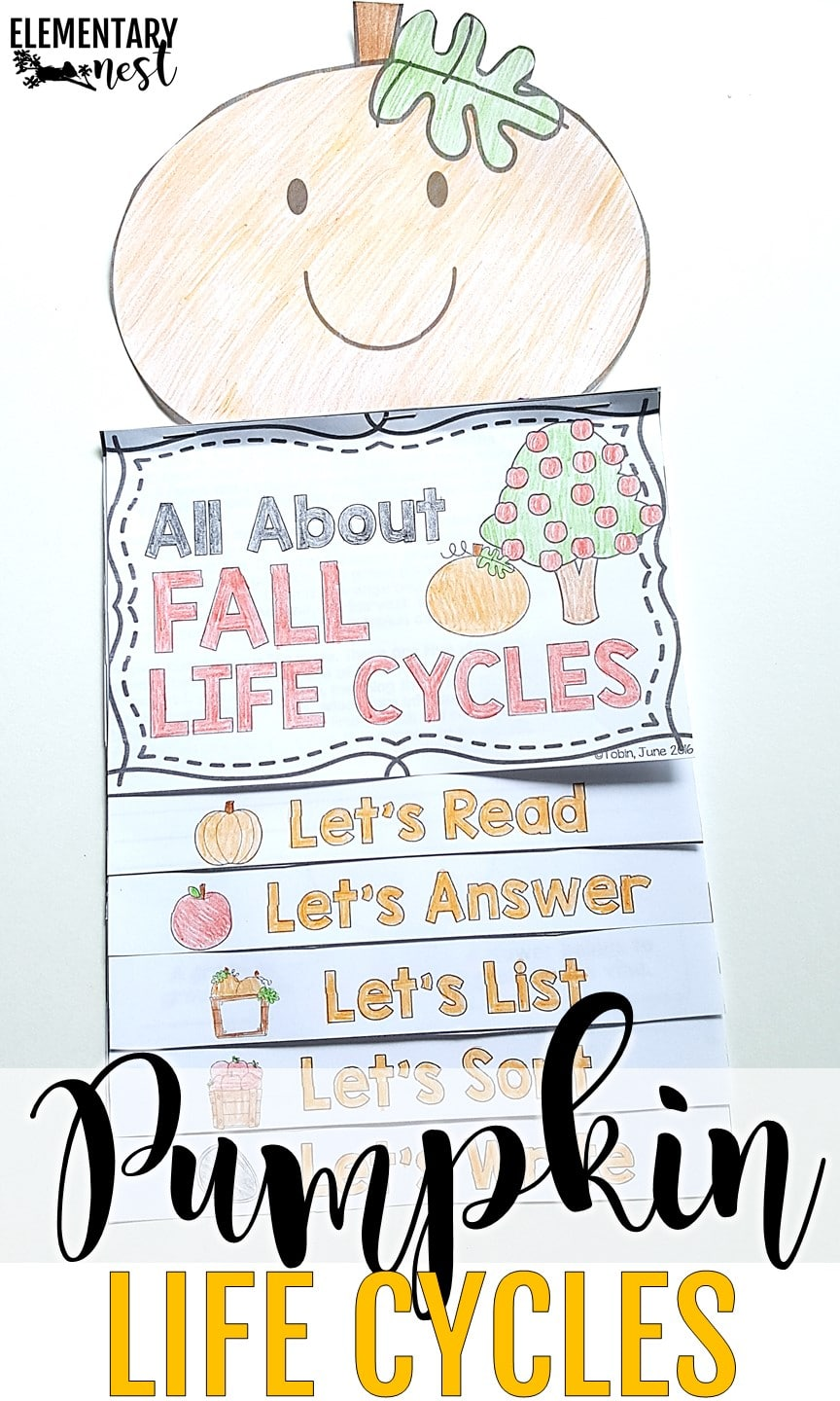 October science lesson plan idea with pumpkin life cycle activity.