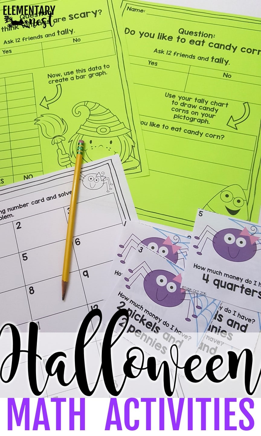 Halloween math activities for October lesson plans.