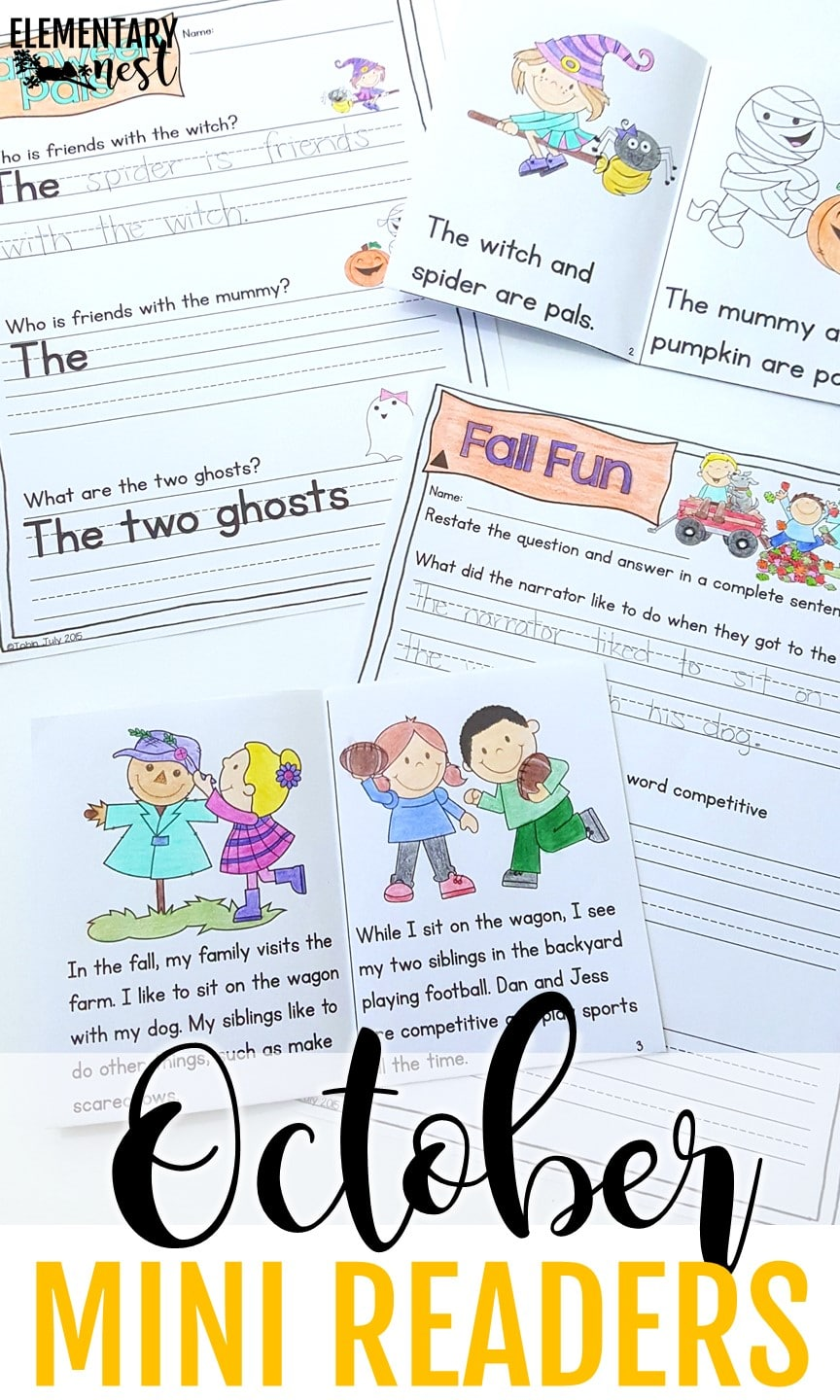 Differentiated October reading books - Primary October Resources.