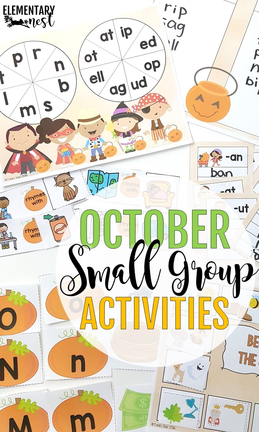 October themed small group activities for hands-on intervention.