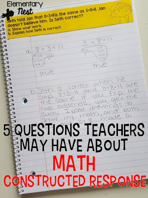 Math constructed response questions.